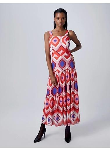 Huxel Elbise Kırmızı